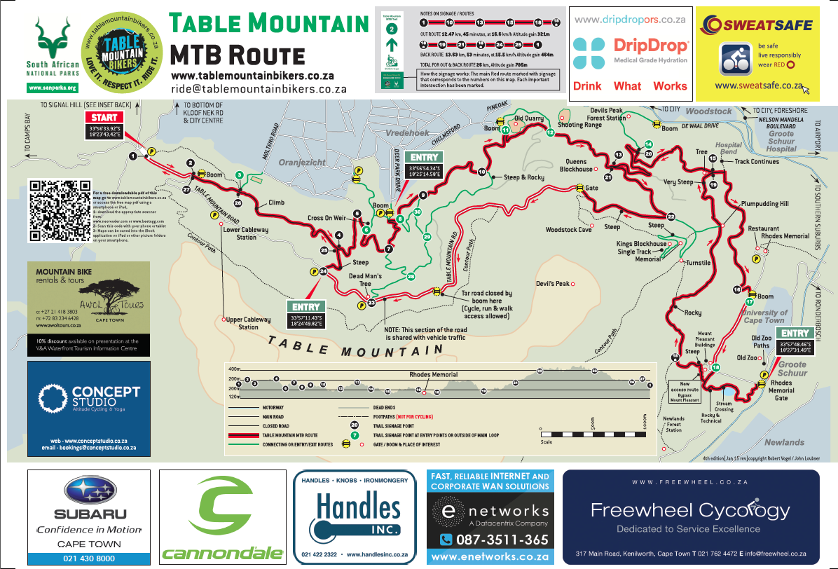 Routes Amp Trails  Table Mountain Bikers
