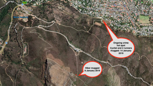 2019: Be aware of crime hot spots on the Table Mountain Trails